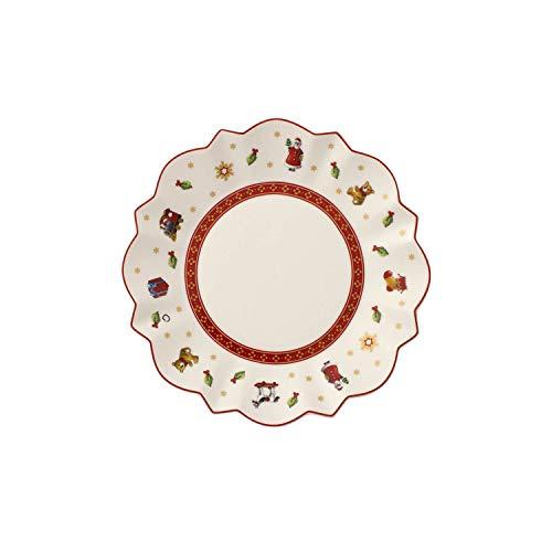 Villeroy & Boch 14-8585-2662 Plato para Pan, Toy's Delight, para Navidad, 17 cm, Porcelana, Blanco, 18.5x18.0x7.5 cm