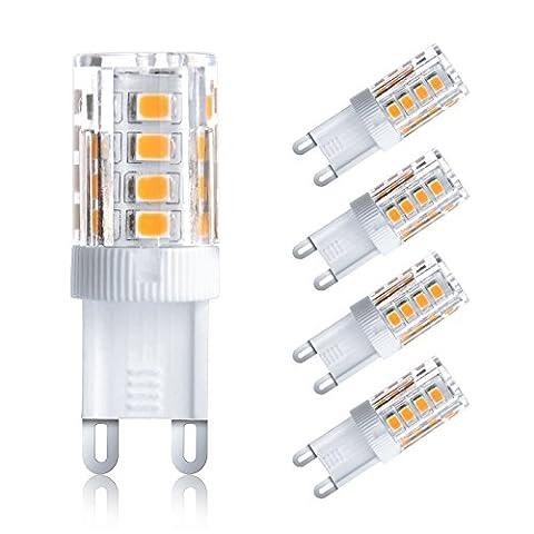 Ascher 4er-Pack G9 3W LED Lampe [vgl. 25W Halogen, 250LM, Warmweiß , AC 220-240V, 360º Abstrahlwinkel] G9 LED Birnen, LED