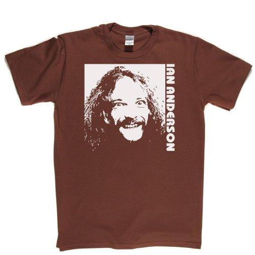 Ian Anderson Rock Music Legend T-shirt Braun