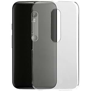 Plastron Hi Quality Crystal Clear Transparent Back Case For Moto G3