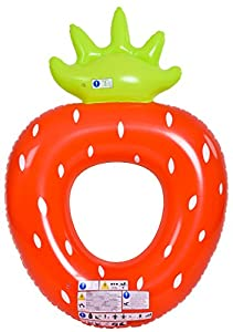 Jilong-37342 - Fresa Flotante Hinchable, Color Rojo
