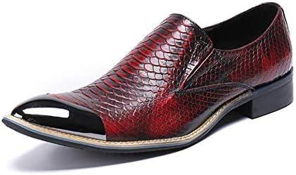 Zapatos de Hombre, Zapatos de Punta de Cuero, Zapatos de Negocios de Primavera, Zapatos de Vestir de Moda, Zapatos...