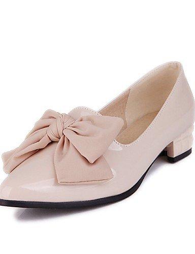ShangYi gyht Scarpe Donna - Scarpe col tacco - Ufficio e lavoro / Casual - Comoda / A punta - Basso - Vernice - Nero / Rosa / Tessuto almond Pink
