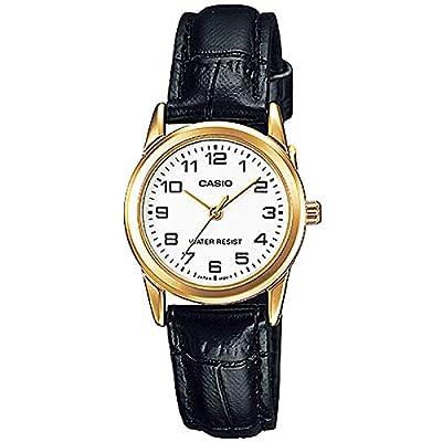 Casio LTPV001GL-7B - Reloj para Mujeres, Correa de Cuero