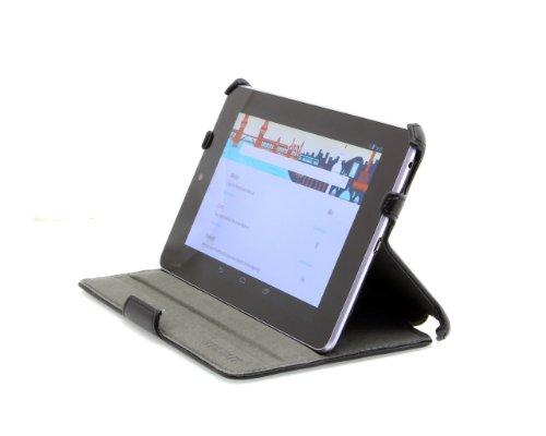 StilGut UltraSlim Case Tasche mit Standfunktion für Google Asus Nexus 7 (8 & 16GB) Tablet Sleep und Wake Up Funktion (EIN-und Ausschalten durch Aufklappen der Schutzhülle), schwarz
