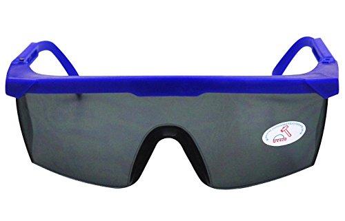 Arbeitsschutzbrille Sicherheitsbrille Schutzbrille Arbeitsbrille nach EN166 (getönt/blau)