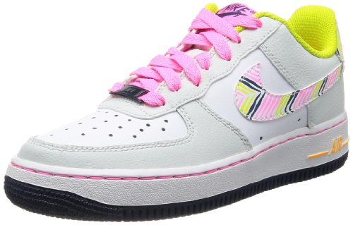 Nike Air Force 1 '06 (GS) Mädchen Sneakers LT BS GRY/WHITE-PNK GLW-VNM GR