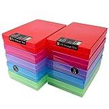 WestonBoxes A4 Boîte de Rangement en Plastique (Multicolore, Lot de 10)