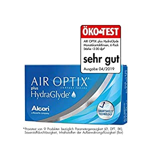 Air Optix HydraGlyde Monatslinsen weich, 6 Stück / BC 8.6mm / DIA 14.2 / -1.25 Dioptrien