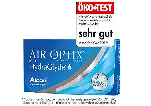 Air Optix HydraGlyde Monatslinsen weich, 6 Stück / BC 8.6mm / DIA 14.2 / -3.75 Dioptrien