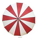 RFVBNM Paraguas/Paraguas Rayado Blanco y Negro/Paraguas fotográfico/Parasol UV-Proof/sombrilla de Playa, Rojo, 56cm * 16k