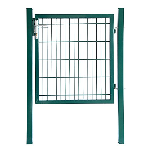 Home Deluxe - Gartentor - Moosgrün - inkl. hochwertigem Griff, Schloss und Schlüsseln - verschiedene Höhen - 1 m