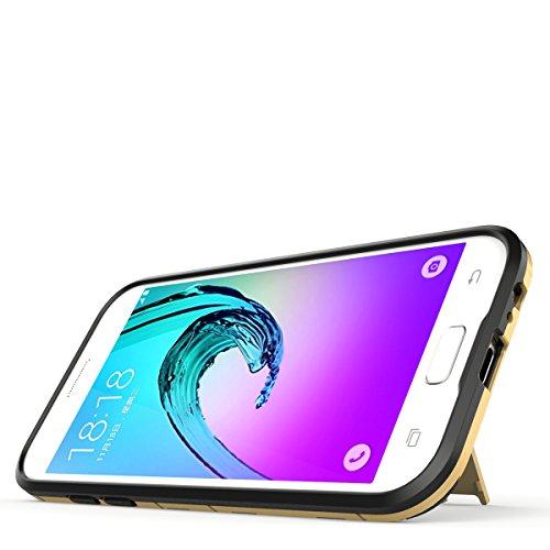 Galaxy C5 Pro Hülle,EVERGREENBUYING Abnehmbare Hybrid Schein SM-C5010 Tasche Ultra-dünne Schutzhülle Case Cover mit Ständer Etui für Samsung GALAXY C5 Pro Grau Saphir