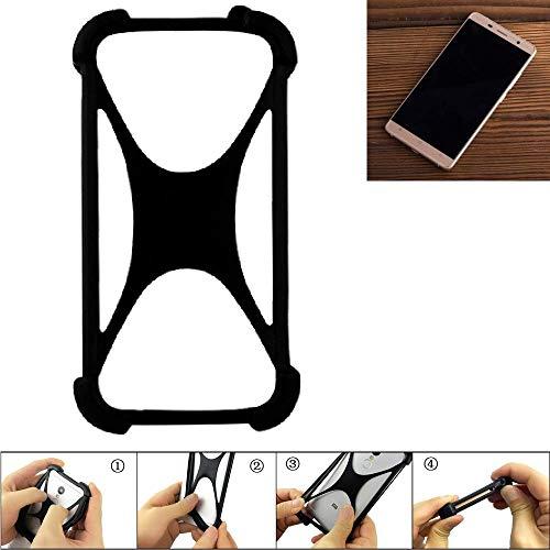 K-S-Trade Bumper Cubot Cheetahphone Silikon Schutz Hülle Handyhülle Silikoncase Softcase Cover Case Stoßschutz, schwarz (1x)