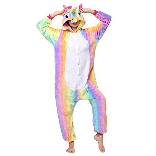 Anbelarui - costume di carnevale da pinguino con panda e unicorno, da uomo e da donna, taglie s/m/l/xl bunt einhorn l