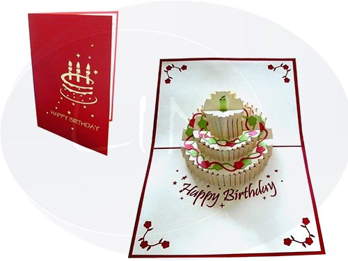 LIN Pop Up Grußkarten zum Geburtstag