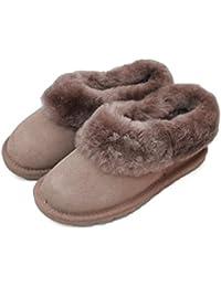 Piel Por Zapatillas Oveja Botas Para Zapatos Estar Casa De nfgHf6x4
