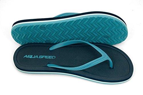 speed blau Navyblau Badelatschen Aqua Merida Damen Zehentrenner wqd6TS