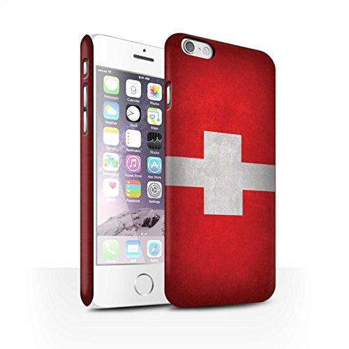 Clipser Matte Coque de Stuff4 / Coque pour Apple iPhone 5/5S / Chili/Chiliean Design / Drapeau Collection Suisse