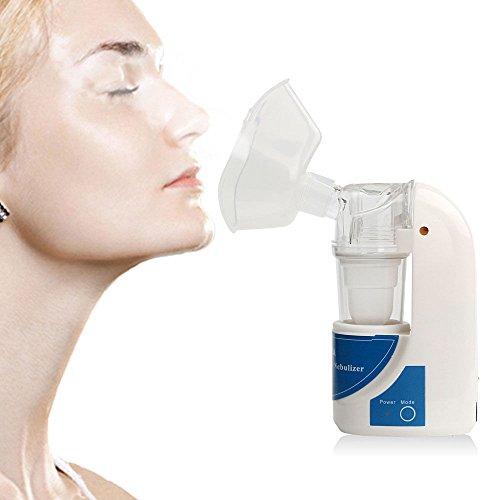 TOPmountain Kit ultrasónico Nebulizador portátil Atomizer Inhaler Humidificador para Adultos Inicio SSL Mini asma Plástico portátil