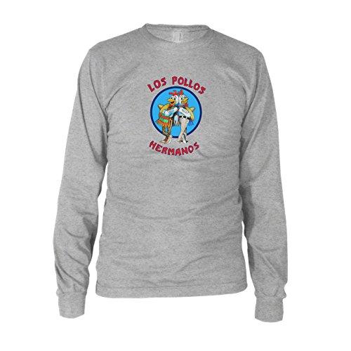 Los Pollos Hermanos - Herren Langarm T-Shirt Grau Meliert