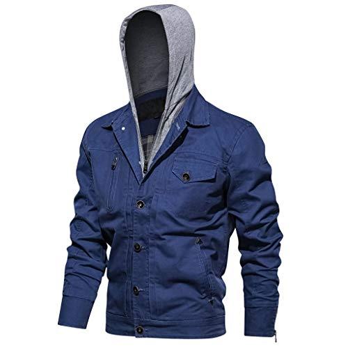 Mosstars Uomo Cappotto con Cappuccio Giubbotto Cargo Invernale Casuale Giacca Military Outwear Hoodie Jacket Coat
