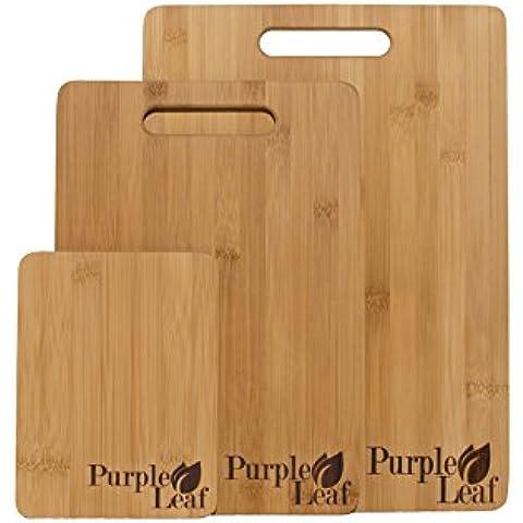 ♻ Set de tabla de corte de bambú ♻ Set de tabla de cortar de bambú, tabla de cortar, tabla de cortar, juego de 3 tablas de cortar de diseño ecológico alta