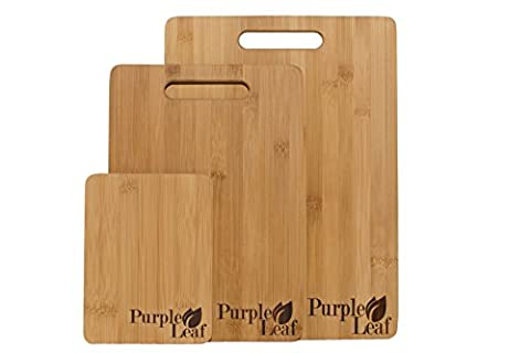 ♻ Planche à découper en bambou ♻ Lot de 3 planches à découper de haute qualité respectueux de l'environnement. planche bambou, planche découper, planches à découper bambou
