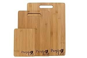bambus schneidebrett set fr hst cksbrettchen schneidebrett untersetzer 3 teilig. Black Bedroom Furniture Sets. Home Design Ideas