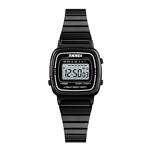 e968b6da9e83 Relojes Pulsera Multifunción Outdoor Esfera Metálica Rectangular Digitale Relojes  Mujer Correa de Acero Inoxidable Negocios Deportivo