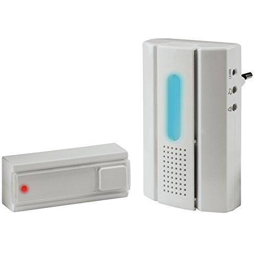 Poly Pool PP1535 Kit Campanello Sensore Senza Fili Doorbell Wireless Con LED Portata 30 Metri (Trasmettitore + Ricevitore)