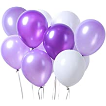 PuTwo Látex Globos de Cumpleaños 100 Piezas Globos de Helio Lila Globos Boda Niña Niño Globos
