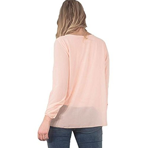 Candy Clothing -  Maglia a manica lunga  - Donna Peach