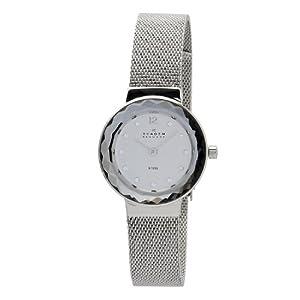 Reloj Skagen Designs UK Skagen Designs de cuarzo para mujer con correa de acero inoxidable, color plateado de Skagen Designs