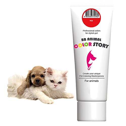 Red 50ml Dog Hair Dye Hair Coloring Professional Colors for Stylish Pet