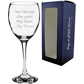 Personalised Crystal Wine Glass,Birthday Gift,18th 21st 30th 40th 50th 60th 70th