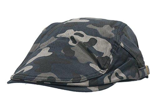 Roffatide Boinas de Camuflaje Militares Caza Ajustable Plano Gorra Boinas  Retro Chapelas Unisex Marino 8468de8a506