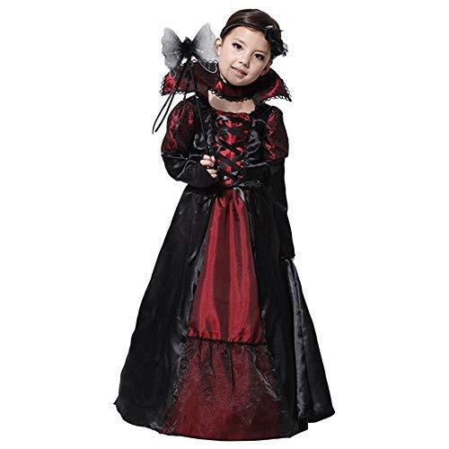 Elf Womens Prinzessin Kostüm - YIDAINLINE Mädchen Lady Vampirin Vampir Kostüm Prinzessin Vampirkleid Dracula für Halloween