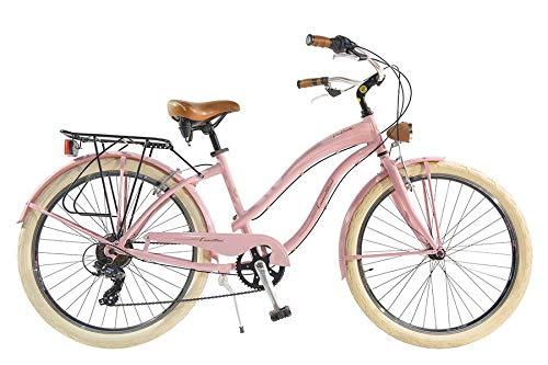 Via Veneto by Canellini Bicicleta Bici Citybike CTB Mujer Vintage Via Veneto American Cruiser Aluminio Rosa
