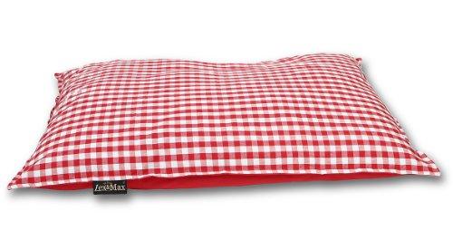 Lex & Max PETFAB - Bezug CARLOS für BENCH Hundekissen-Füllung - Größe: 100 x 70 cm, Farbe: Rot (Schlaf-muster Gesunde)