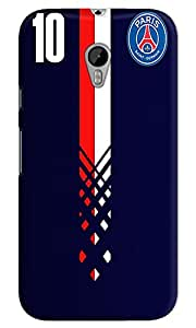 The Fappy Store paris Hard Plastic Back CaseCover Moto G-3