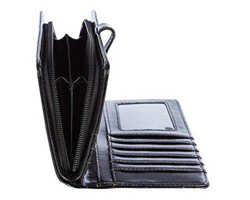 Shagwear portafoglio per giovani donne , Large Purse : Diversi colori e design: Cest Paris nero