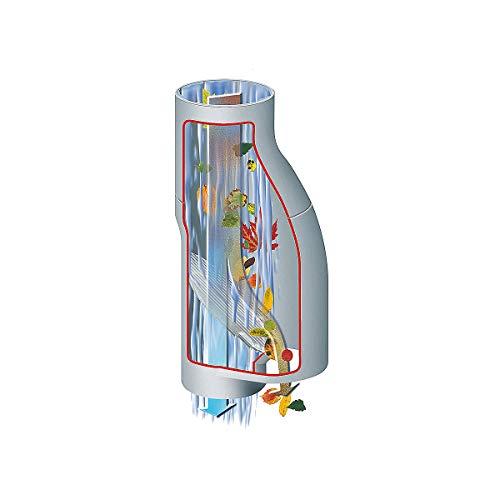 Certeo Regenwassersammler mit Separator für Verunreinigungen | Grau | Regenrinne Dachrinne Regenfilter Wasserfilter Regentonne Regentank Regenfass Regensammler Füllautomat