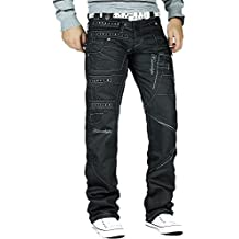 7a4fa33c44c2 Kosmo Lupo Herren Jeans Freizeit Hose Clubwear Designer Dope Cargo Style  Schwarz