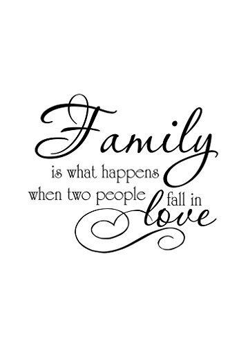 Familia es lo que sucede cuando dos personas Fall In Love Diseño de aluminio Metal Sign 7X 10pulgadas