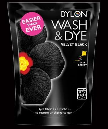 Dylon Wash and Dye Wäschefärbemittel, Velvet Black