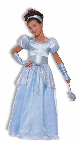 shoperama Deluxe Silver Blue Princess Mädchen-Kostüm, Kindergröße:140 - 8 bis 10 (Deluxe Eis Prinzessin Kostüm)
