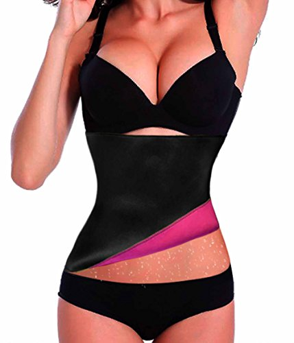 Chumian Hot Thermo Schweiß Neopren Shapers Slimming Gürtel Taillenmieder Girdle für Gewicht Loss Rose Red