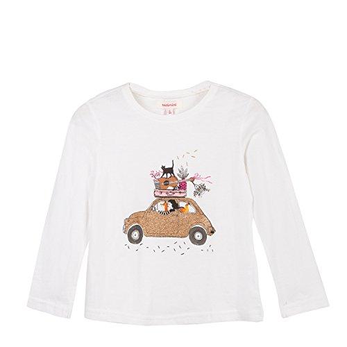 Catimini Mädchen Langarmshirt T-Shirt Manches Longues Pour, Beige (Ivory 12), 10 Jahre (He Preisvergleich
