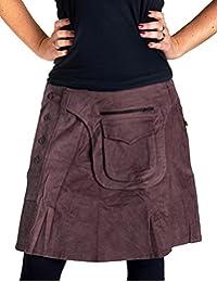 Vishes - Alternative Bekleidung - Kurzer Rock aus Cord Baumwolle mit  angenähter… 5e08db2940